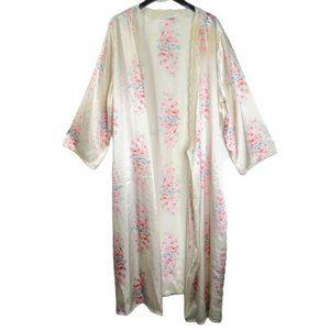 PINK Victoria's Secret Floral Silk Robe 1X